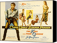 1956 Movies Canvas Prints - The King And Four Queens, Clark Gable Canvas Print by Everett
