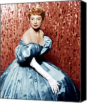 White Gloves Canvas Prints - The King And I, Deborah Kerr, 1956 Canvas Print by Everett