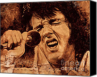 Elvis Canvas Prints - The King Canvas Print by Igor Postash