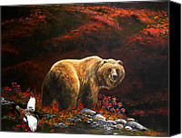 Kodiak Canvas Prints - The King of Blueberry hill Canvas Print by Scott Thompson