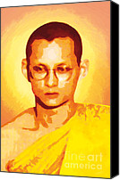 Asia Digital Art Canvas Prints - The King of Thailand Priesthood Canvas Print by Eakaluk Pataratrivijit