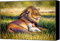 Lion Canvas Prints - The Kingdom of Heaven Canvas Print by Susan Jenkins