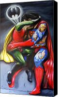Super Heroes Canvas Prints - The Kiss Canvas Print by Matthew Lake