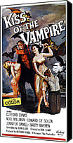 Horror Fantasy Movies Photo Canvas Prints - The Kiss Of The Vampire, Aka Kiss Of Canvas Print by Everett