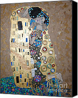 Black Painting Special Promotions - The Kiss Canvas Print by Samantha Black