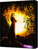Conceptual Canvas Prints - The Lady of Shalott Canvas Print by Bob Orsillo