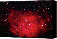 Nebula Canvas Prints - The Lagoon Nebula In Sagittarius Canvas Print by A. V. Ley