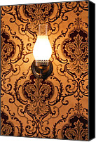 Oil Lamp Canvas Prints - The Lamp on the Wall Canvas Print by Garry Staranchuk