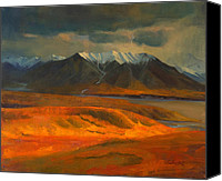 Denali Canvas Prints - The Land Beyond the Red Tundra Canvas Print by Douglas Girard