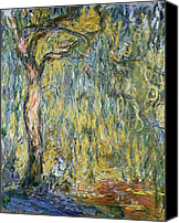 Impressionism Canvas Prints - The Large Willow at Giverny Canvas Print by Claude Monet