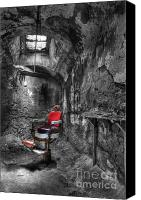 Ghosts Canvas Prints - The Last Cut- Barber Chair - Eastern State Penitentiary Canvas Print by Lee Dos Santos