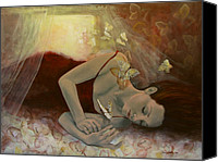 Live Art Canvas Prints - The last dream before dawn Canvas Print by Dorina  Costras