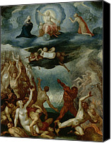 Putti Painting Canvas Prints - The Last Judgement  Canvas Print by Martin Pepyn