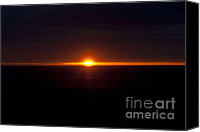 Shining Down Canvas Prints - The Last Light - 3 Canvas Print by Heiko Koehrer-Wagner