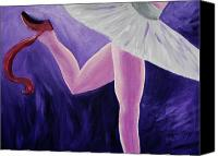 Ballet Art Canvas Prints - The Last Slipper Canvas Print by Donna Blackhall