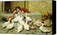 Dogs Canvas Prints - The Last Spoonful Canvas Print by Briton Riviere
