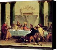 Last Supper Canvas Prints - The Last Supper Canvas Print by Giovanni Battista Tiepolo