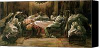 Last Supper Canvas Prints - The Last Supper Canvas Print by Tissot