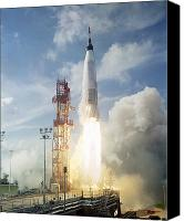 Success Photo Canvas Prints - The Launch Of The Mercury-atlas 4 Canvas Print by Stocktrek Images