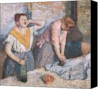 Job Painting Canvas Prints - The Laundresses Canvas Print by Edgar Degas