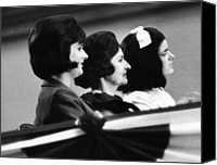 First Ladies Canvas Prints - The Lbj Ladies At The 1964 National Canvas Print by Everett