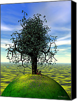 Kites Digital Art Canvas Prints - The Learning Tree Canvas Print by Walter Neal