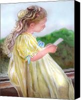 Girl Reliefs Canvas Prints - The Letter Canvas Print by Lamarr Kramer