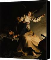 Darkness Painting Canvas Prints - The Liberation of Saint Peter Canvas Print by Abraham Bloemaert