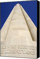 Kansas City Canvas Prints - The Liberty Memorial Tower In Kansas City Canvas Print by Wallace Garrison