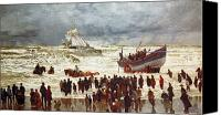 Shipwreck Painting Canvas Prints - The Lifeboat Canvas Print by William Lionel Wyllie