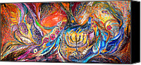Judaica Canvas Prints - The Light of Menorah Canvas Print by Elena Kotliarker