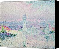 Signac Canvas Prints - The Lighthouse at Antibes Canvas Print by Paul Signac