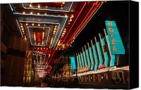 Fun Houses Canvas Prints - The lights are on in Las Vegas Canvas Print by Susanne Van Hulst