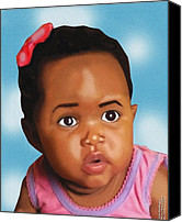 Airbrush Art Digital Art Canvas Prints - The Lil Cutie Canvas Print by Lesiba Andries