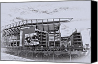 Sports Canvas Prints - The Linc - Philadelphia Eagles Canvas Print by Bill Cannon