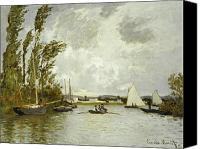 Signature Canvas Prints - The Little Branch of the Seine at Argenteuil Canvas Print by Claude Monet
