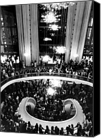 Chandelier Canvas Prints - The Lobby Of The Metropolitan Opera Canvas Print by Everett