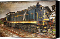 Formerly Canvas Prints - The Locomotive Canvas Print by Paul Ward
