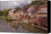 Rural Scenes Canvas Prints - The Loir River Canvas Print by Debra and Dave Vanderlaan