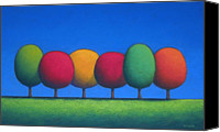 Landscape Pastels Canvas Prints - The Lollipop Trees Number 2 Canvas Print by Christopher Jackson