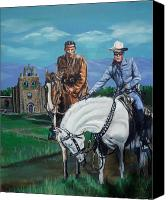 Clayton Painting Canvas Prints - The Lone Ranger and Tonto Tribute Canvas Print by Bryan Bustard