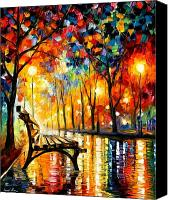 Landscape Painting Canvas Prints - The Loneliness Of Autumn Canvas Print by Leonid Afremov