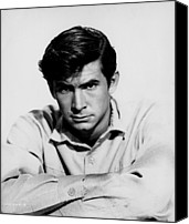 1957 Movies Canvas Prints - The Lonely Man, Anthony Perkins, 1957 Canvas Print by Everett