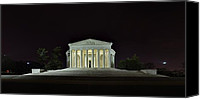 Alone Canvas Prints - The Lonely Tourist at Jefferson Memorial Canvas Print by Metro DC Photography