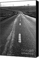 Francis Canvas Prints - The Long Road Home . 7D9898 . Black and White Canvas Print by Wingsdomain Art and Photography