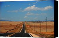 Santa Fe Canvas Prints - The long road to Santa Fe Canvas Print by Susanne Van Hulst