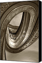 Spiral Staircase Canvas Prints - The Loop Canvas Print by Sheryl Thomas