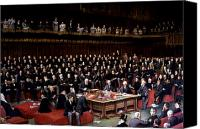 Discussion Canvas Prints - The Lord Chancellor About to Put the Question in the Debate about Home Rule in the House of Lords Canvas Print by English School