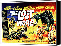 1960 Movies Canvas Prints - The Lost World, Poster Art, 1960 Canvas Print by Everett