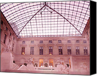 The Louvre Museum Canvas Prints - The Louvre - Musee du Louvre Pink Pyramid  Canvas Print by Kathy Fornal